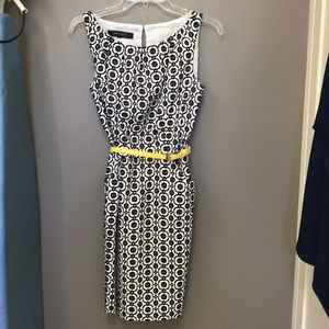 Nine West black white dress 12P fully lined